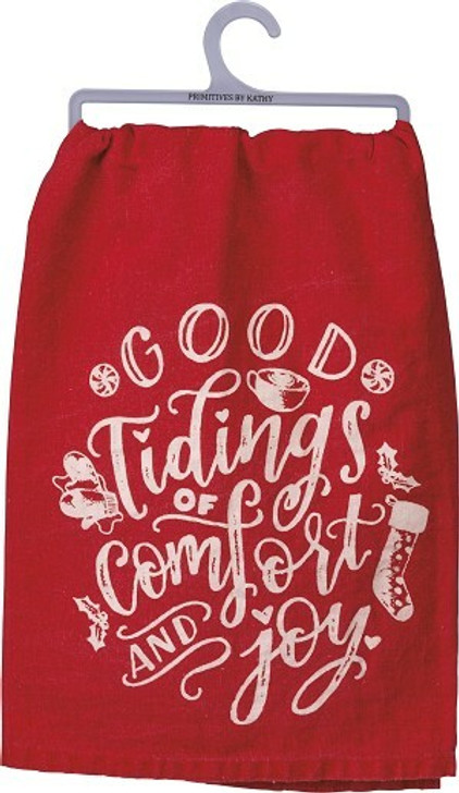 Primitives By Kathy Good Tidings of Comfort and Joy Christmas Dish Towel 104095