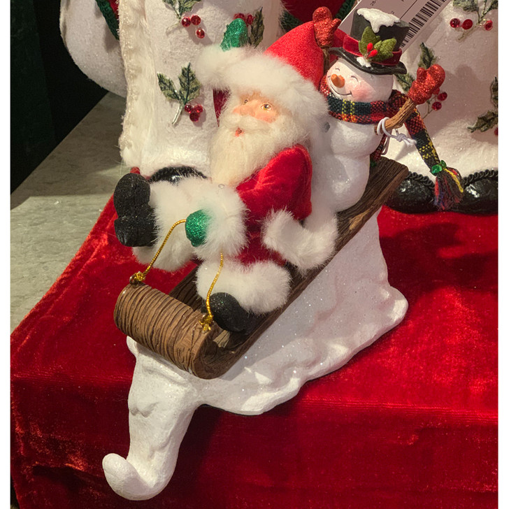 Katherine's Collection Santa and Snowman Stocking Holder 28-028776