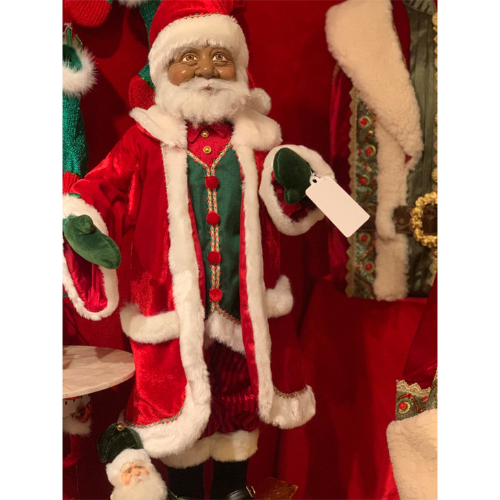 """Katherine's Collection 24"""" African American Santa Doll 28-028712"""