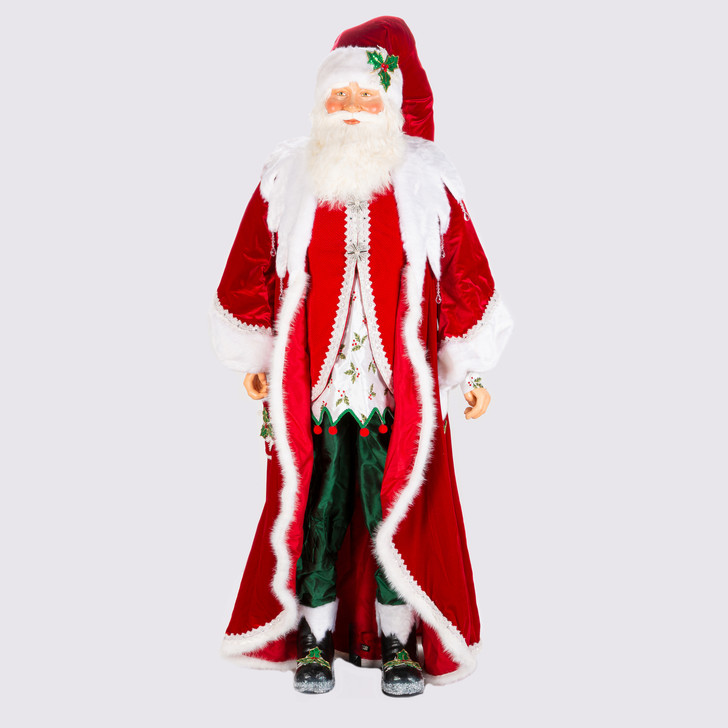 Katherine's Collection Life Size Snow Day Santa Figure 28-028713
