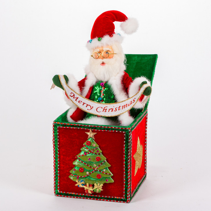 Katherine's Collection Santa Jack In The Box Christmas Figure 28-028759