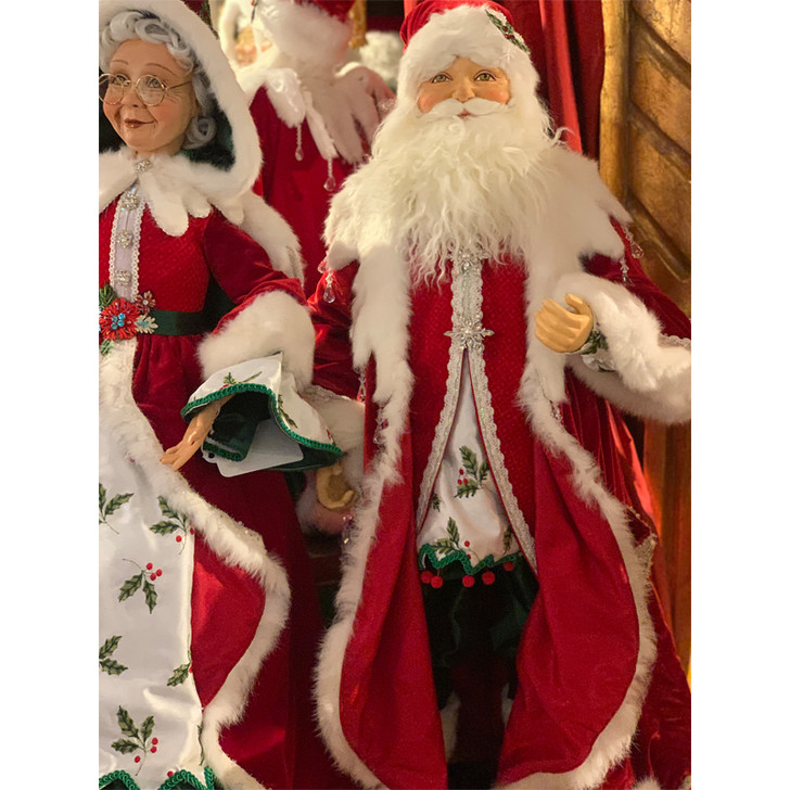"""Katherine's Collection 32"""" Snow Day Santa Doll 28-028698"""