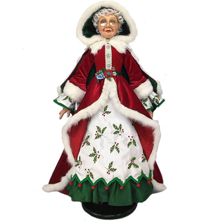 "Katherine's Collection 32"" Snow Day Mrs. Claus Figure 28-028700"