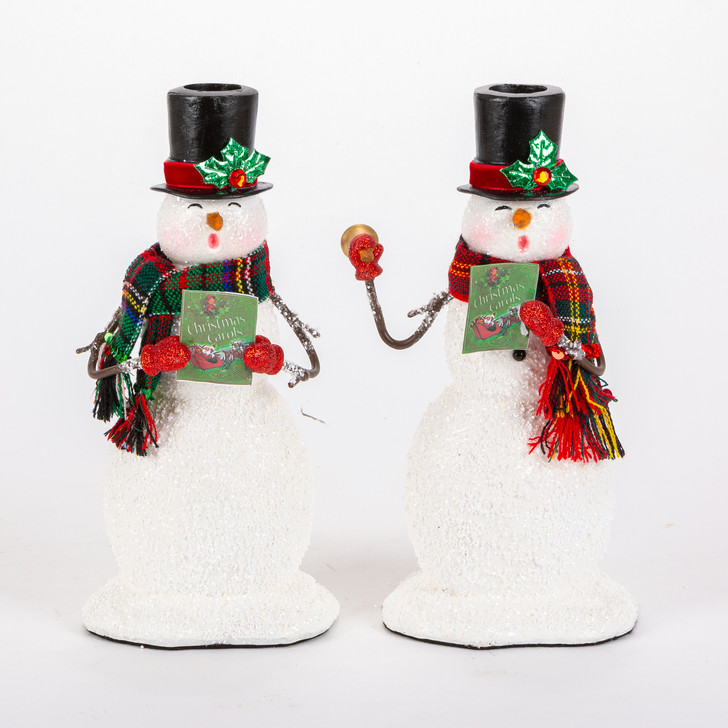 Katherine's Collection Set of 2 Caroling Snowmen Christmas Candle Holders 28-028769