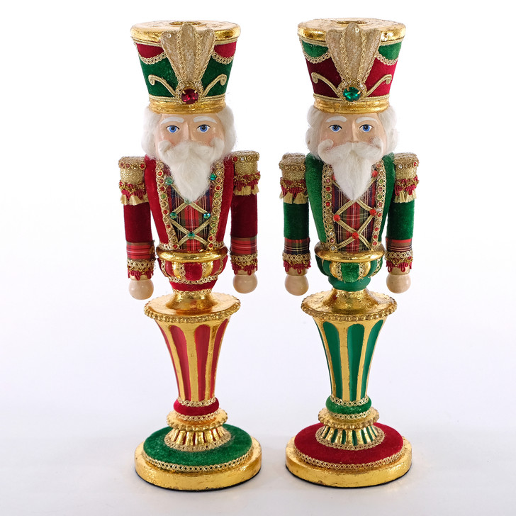 Katherine's Collection Set of 2 Nutcracker Wishes Christmas Candle Holders 28-928477