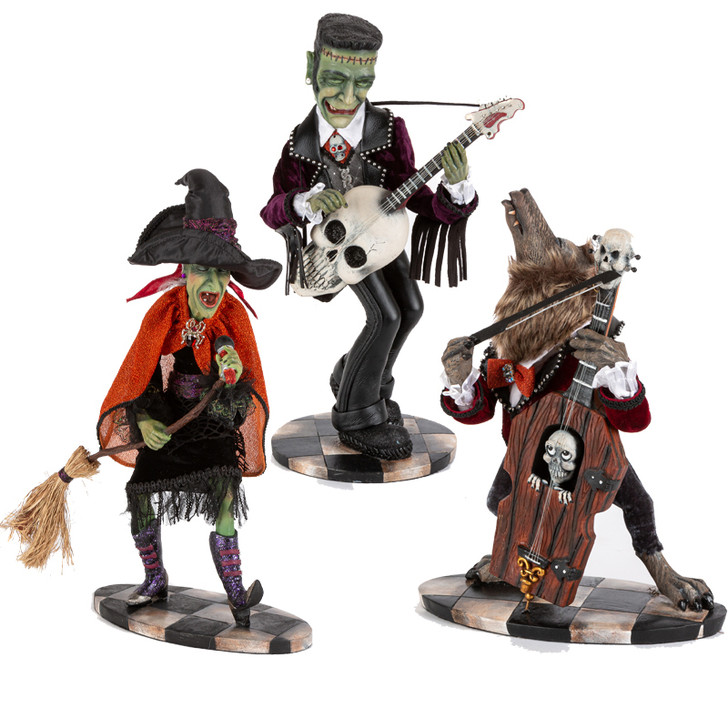 Katherine's Collection Set of 3 Rock N Roll Band Halloween Figures