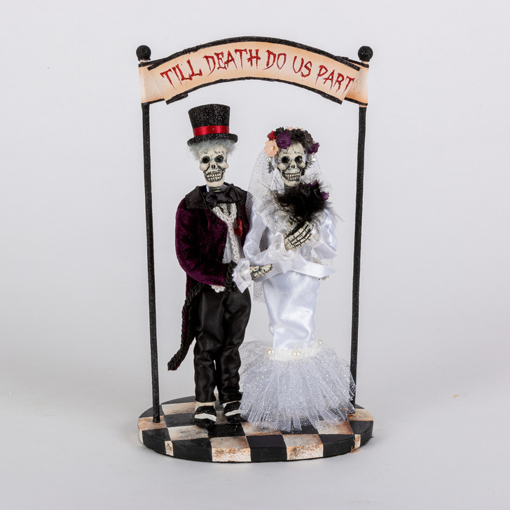 "Katherine's Collection 11"" Til Death Do Us Part Halloween Cake Topper or Halloween Figure 28-028632"