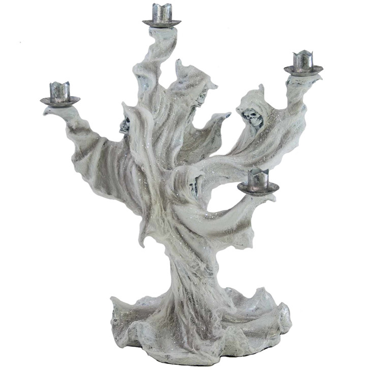"""Katherine's Collection 17"""" Ghost Taper Candle Holder Halloween Candelabra"""