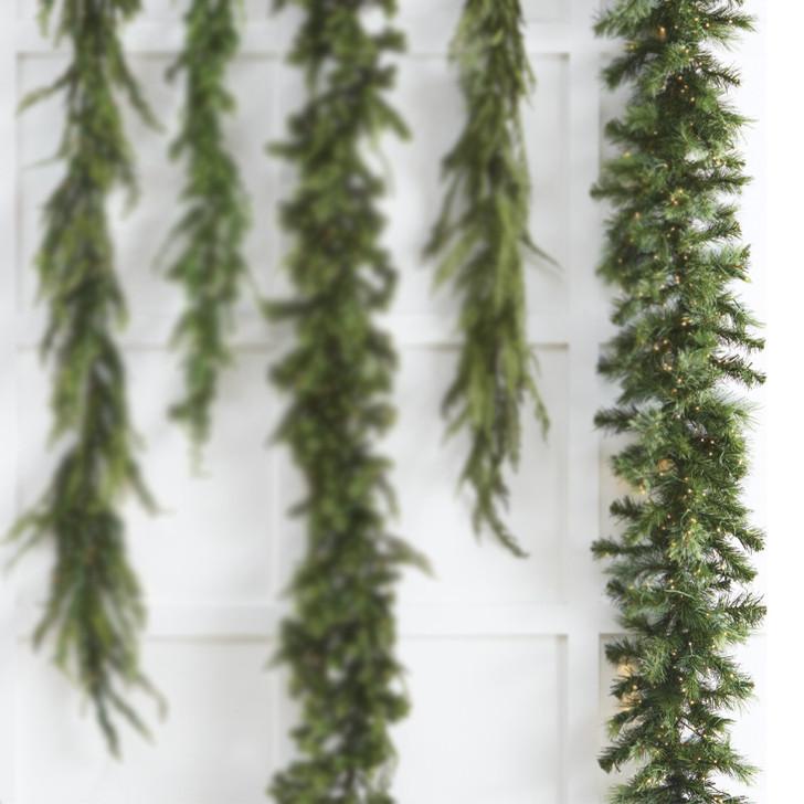 Raz 9' Snake Light Green Mixed Cedar Pine Christmas Garland G3752023