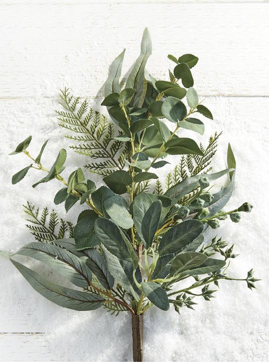 """Raz 30"""" Mixed Greenery Eucalyptus Christmas Spray F4002284"""