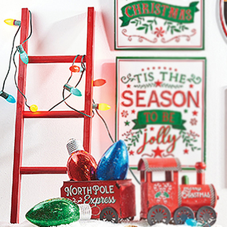 "Raz 36"" Red Ladder Christmas Decoration 4028879"