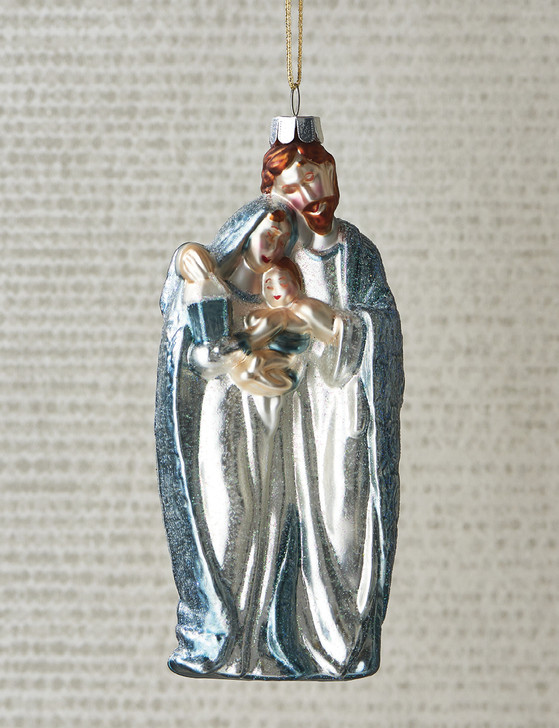 "Raz 5.5"" Holy Family Glass Christmas Ornament 4052918"