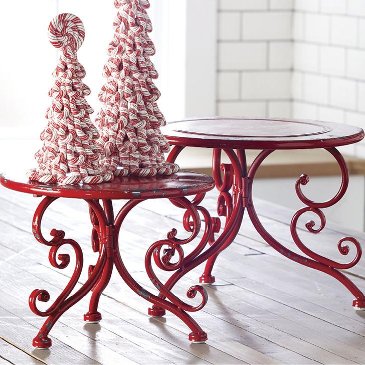 Raz Red Iron Riser Christmas Home Decoration | Raz Imports ...