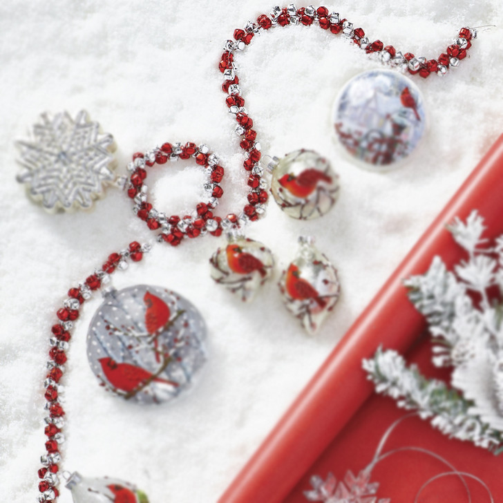 Raz 5' Red and Silver Jingle Bell Christmas Tree Garland G4017575
