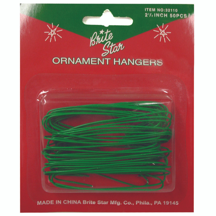 50 Large Green Christmas Tree Ornament Hooks