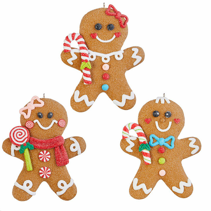 "Raz 5"" Claydough Decorated Gingerbread Christmas Ornament 4015547"