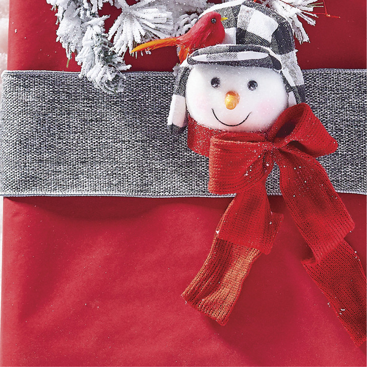 "Raz 7"" Snowman Head Christmas Ornament 4016266"