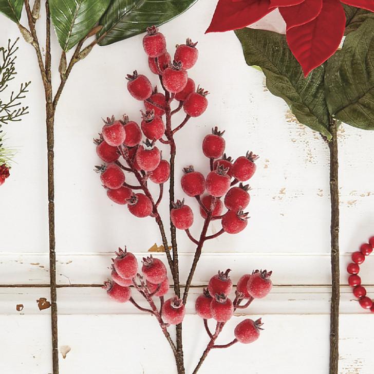 "Raz 29"" Iced Red berry Christmas Tree Spray F4002418"