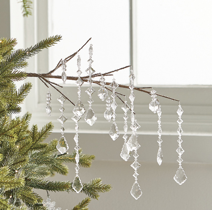 "Raz 34"" Dripping Jewel Christmas Tree Stem Pick F4017567"