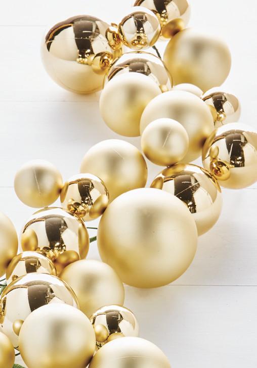 Raz 4' Gold Christmas Ball Garland G8382770