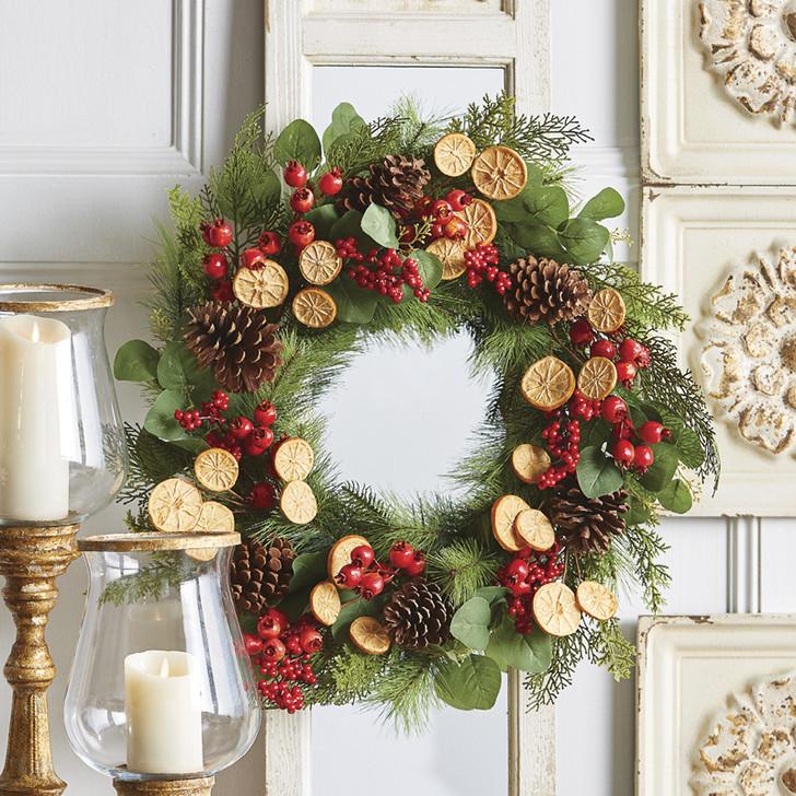 "Raz 26"" Mixed Berry and Dried Orange Slice Christmas Wreath W4002247"