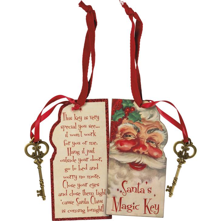 "Primitives By Kathy 6 ""Santa's Magic Key Christmas Ornament 105053"
