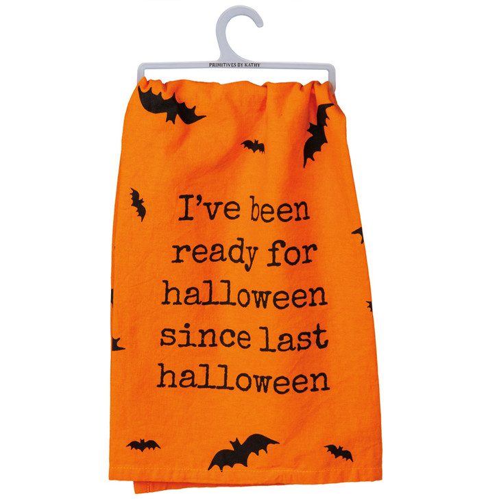 Primitives By Kathy Orange Last Halloween Kitchen Towel 106420