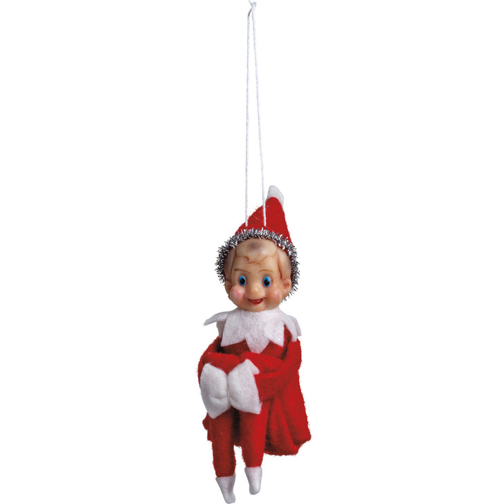 "Primitives By Kathy 5.25"" Vintage Elf Christmas Ornament 107726"