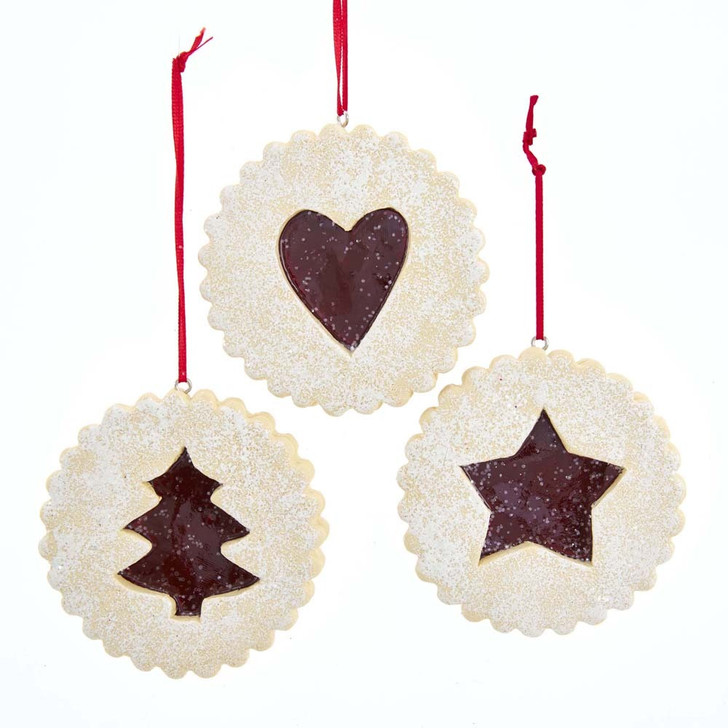 "Kurt Adler 3"" Linzer Tart Cookie Christmas Ornament D3709"