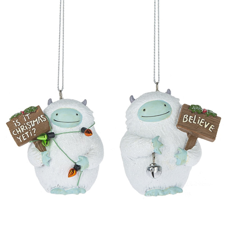 "2.5"" Cute Yeti Christmas Ornament MX177948"