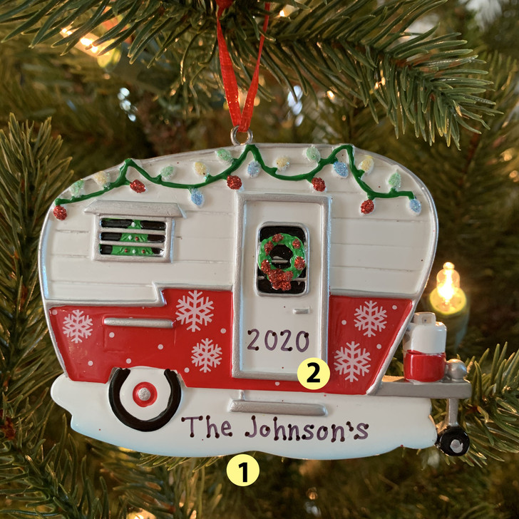 Christmas Camper RV Personalized Christmas Ornament OR1838 -2