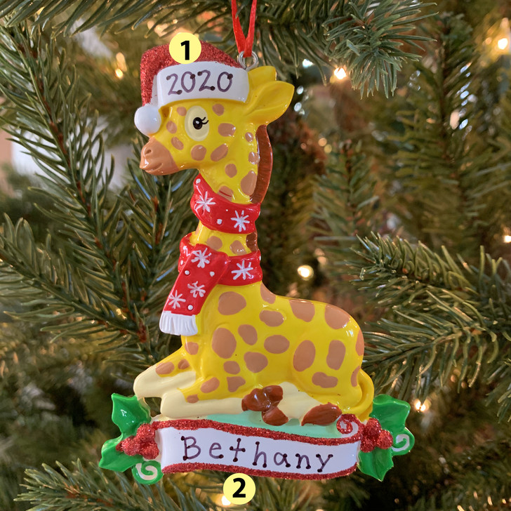 Baby Giraffe Personalized Christmas Ornament OR1850G -2