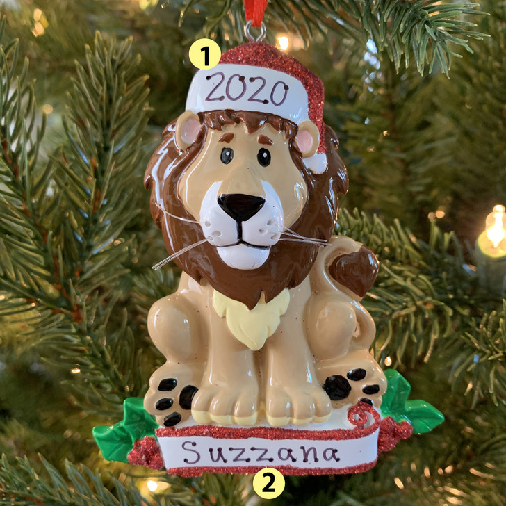 Baby Lion Personalized Christmas Ornament OR1850L -2