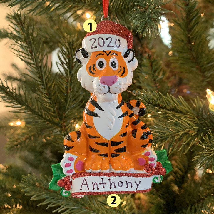 Baby Tiger Personalized Christmas Ornament OR1850T -2