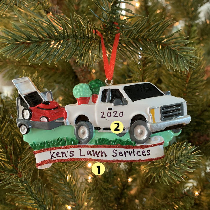 Landscapers Truck Personalized Christmas Ornament OR1810 -2