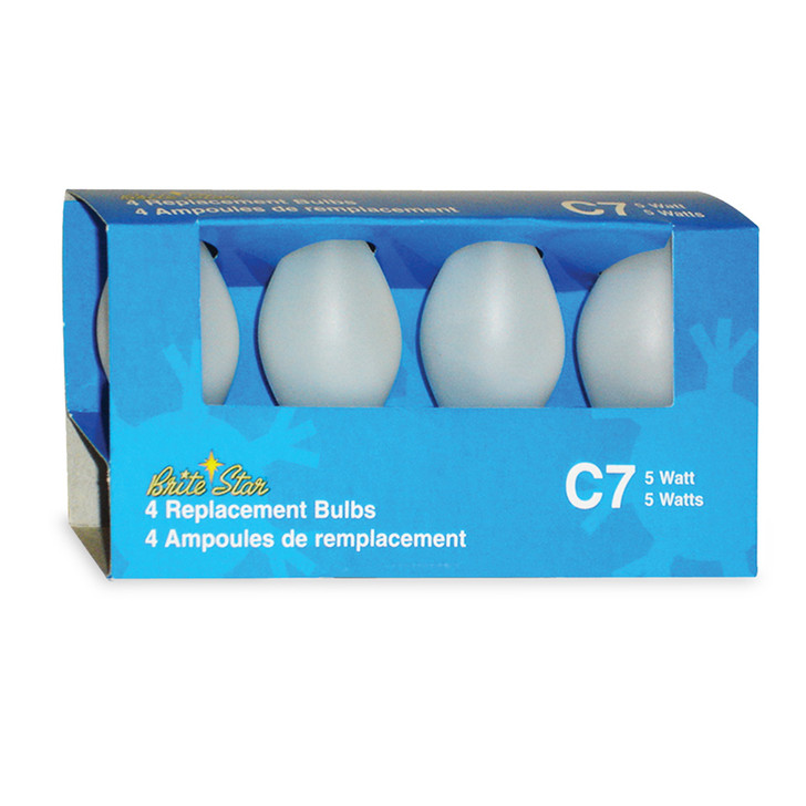 Brite Star 4 Pack Frosted White C7 Replacement Bulbs 44-374-00