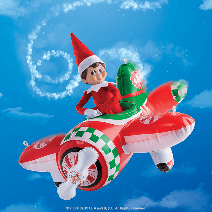 Elf On The Shelf Scout Elves At Play Peppermint Plane Ride