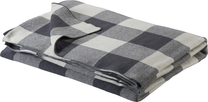 Primitives By Kathy Grey and Ivory Buffalo Checked Knit Christmas Throw Blanket 100369