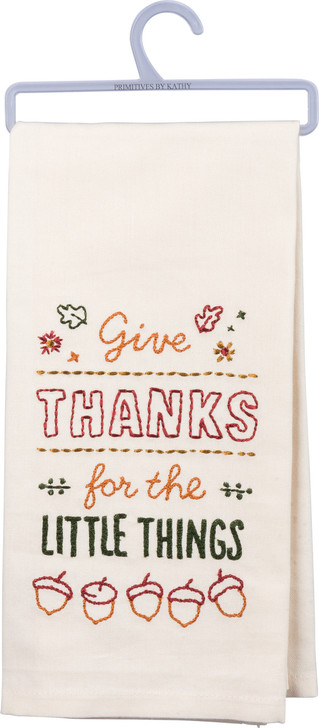 Primitives By Kathy Give Thanks Embroidered Fall Kitchen Dish Towel 31857