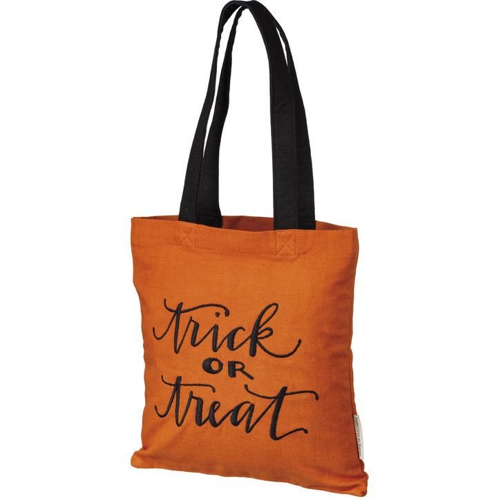 Primitives By Kathy Trick Or Treat Halloween Tote Bag 106612