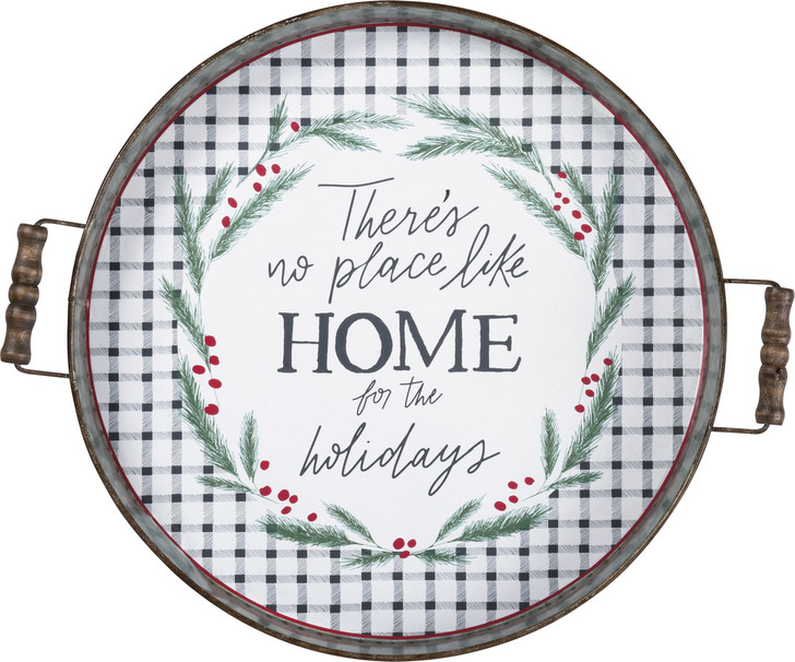 Primitives By Kathy No Place Like Home For The Holidays Decorative Christmas Tray 106595