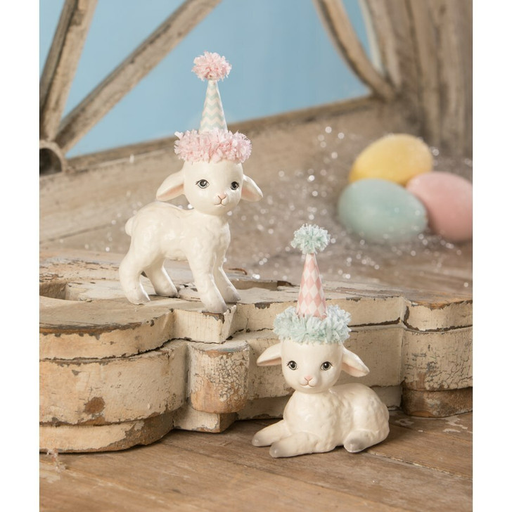 Bethany Lowe Spring Party Lamb Easter Decoration TL9406
