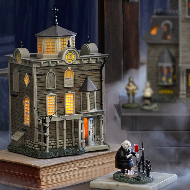 Department 56 The Addams Family Village Uncle Fester's Garden Tinkering and House Set