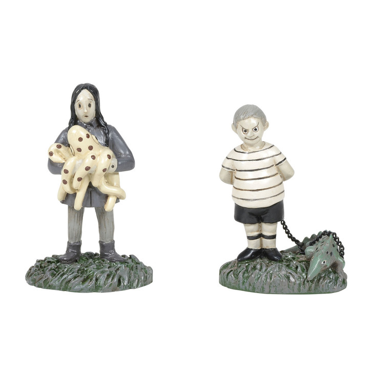 Department 56 Addams Family Village The Kids with Their Pets Figure 6005627