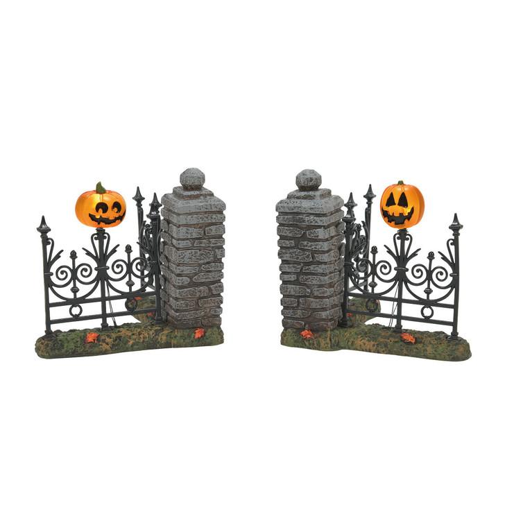Department 56 Halloween Village Jack Lantern Lit Fence Corners 6007702