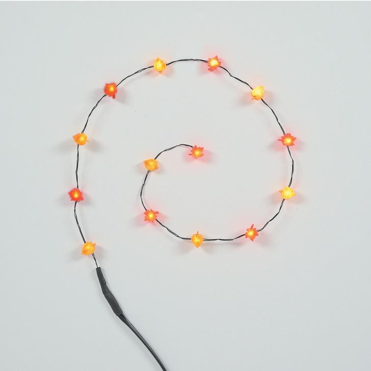 Department 56 Halloween Village String of Lit Autumn Leaves LED String Lights 6007712
