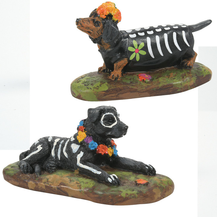 Department 56 Halloween Village Day Of The Dead Dogs 6007722