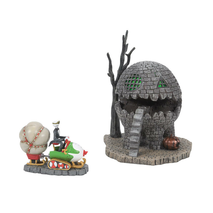 Department 56 The Nightmare Before Christmas Halloween Village The Lizard House & Jack Brings Home Christmas Set