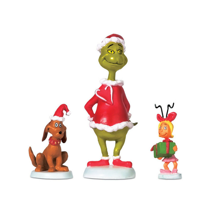 Department 56 The Grinch Village Grinch Max & Cindy-Lou Who Figure 804152