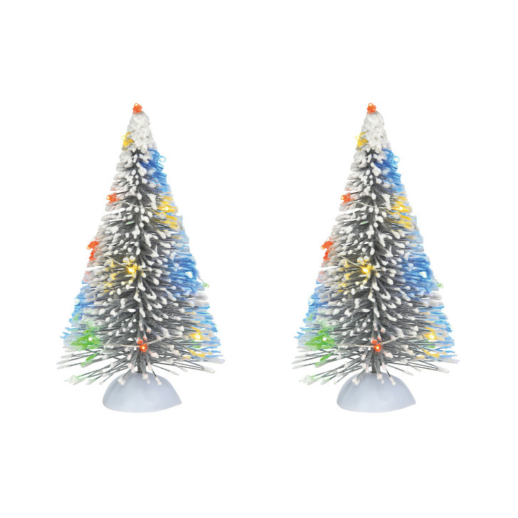 Department 56 LED Lighted Frosted White Sisal Tree Set 6007694